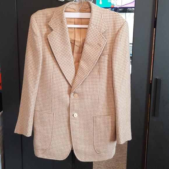 Vintage Christian Dior monsieur houndstooth blazer